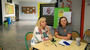 Strajk nauczycieli w SP nr 66 w Poznaniu