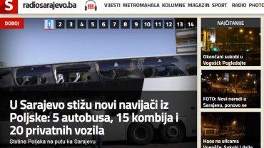 Sarajewo. Zadyma przed meczem FK Sarajevo - Lech Poznań