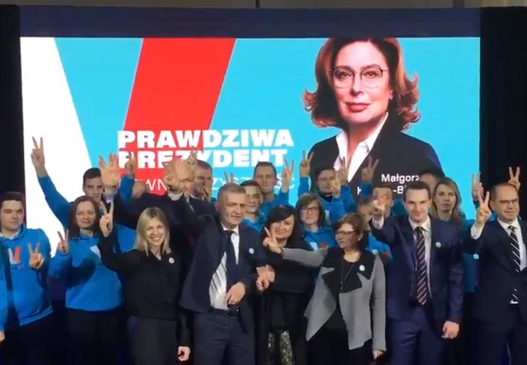 Billboard i hasło Małgorzaty Kidawy-Błońskiej