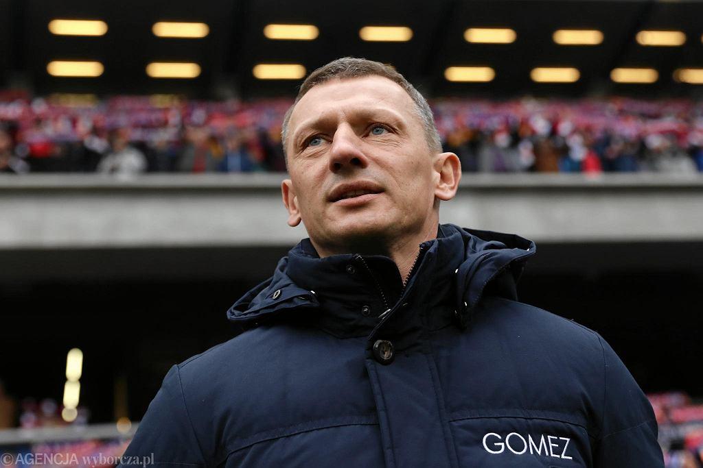 Wisła Kraków - Lech Poznań 1:1. Trener Dariusz Żuraw