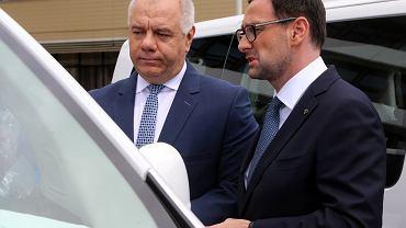 Jacek Sasin i Daniel Obajtek