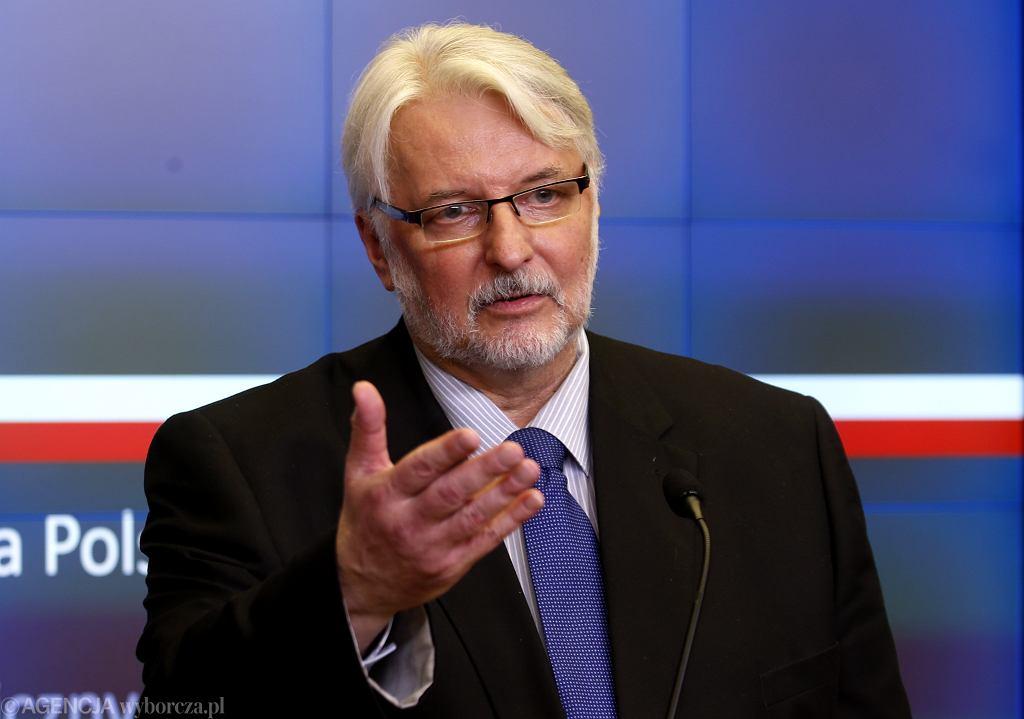 Witold Waszczykowski skomentował koszt wynajmu willi Przyłębskiego