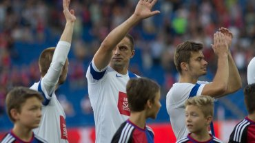 FC Basel - Lech Poznań 1:0 w III rundzie eliminacji do Ligi Mistrzów. Szymon Pawłowski, Dariusz Dudka, Karol Linetty