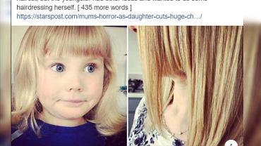 Dziewczynka obcięła sobie włosy