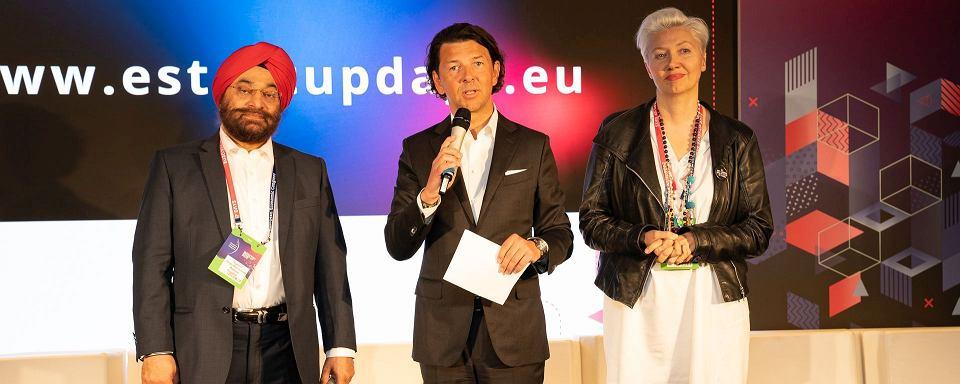 Mentorzy podczas warsztatów na European Start-up Days. Od lewej: Supreet Singh Manchanda, Jarosław Sroka, Jowita Michalska.