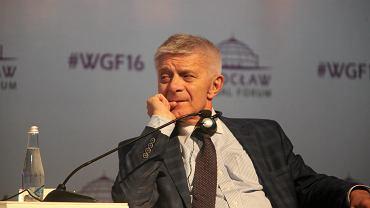 03.06.2016, ówczesny prezes NBP Marek Belka podczas Global Forum (fot. Mieczysław Michalak/AG)