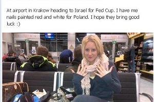 Urszula Radwańska chwali się talizmanem na Puchar Federacji