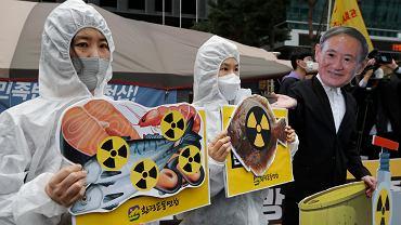 Japonia. Protesty przeciwko uwolnieniu skażonej wody do oceanu