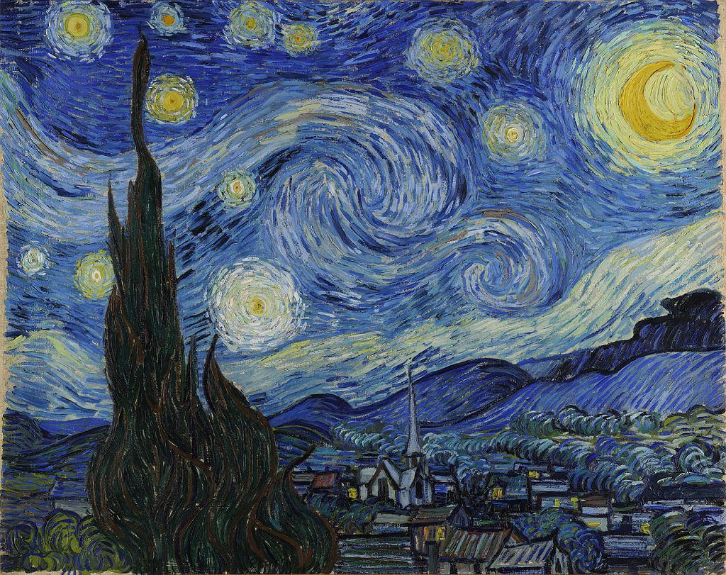 Vincent van Gogh. Gwiaździsta noc (1889) / Wikimedia Commons