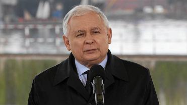 Jarosław Kaczyński z wizytą w Szczecińskim Parku Przemysłowym. To tu wygłosił swój komentarz do Marszu Wolności