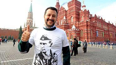 Obecny włoski wicepremier i szef MSW Matteo Salvini podczas wizyty w Moskwie w grudniu 2017 r. Wówczas był jedynie przywódcą Ligi