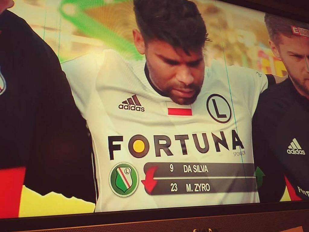 Eduardo doznał kontuzji w pierwszym meczu w barwach Legii