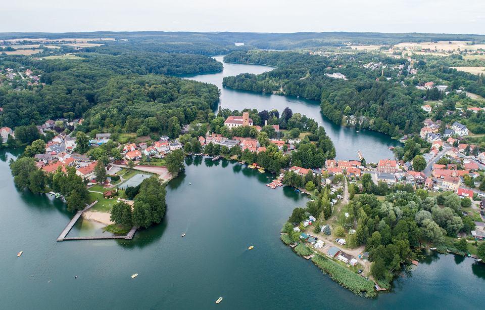 Łagów nad jeziorami Łagowskim i Trześniowskim