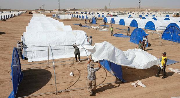 Obóz dla uchodźców w irackim Kurdystanie