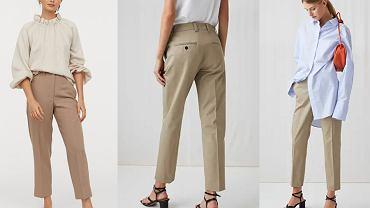 Spodnie chinosy damskie