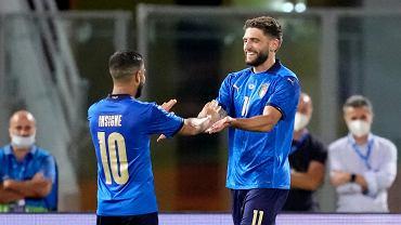 Lorenzo Insigne i Domenico Berardi podczas meczu Włochy - Czechy.