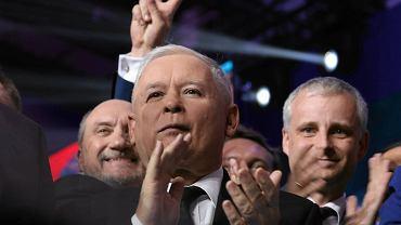 Jarosław Kaczyński podczas konwencji programowej PiS