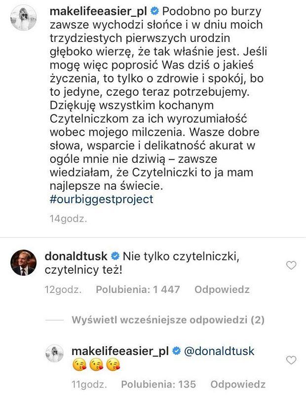 Donald Tusk o ciąży córki