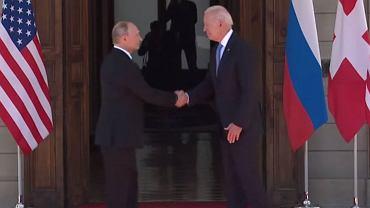 Władimir Putin i Joe Biden w Genewie