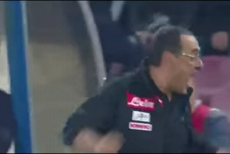 Mauricio Sarri podczas meczu z Lazio