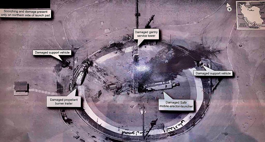 Zdjęcie zrobione przez amerykańskiego satelitę opublikowane przez Donalda Trumpa