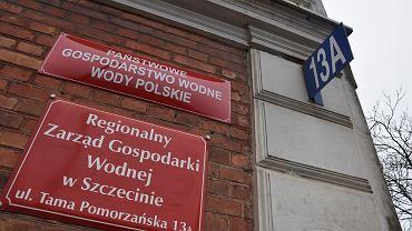 Wody Polskie wchłonęły RZGW. Na zdjęciu tabliczki na gmachu przy ul. Tama Pomorzańska