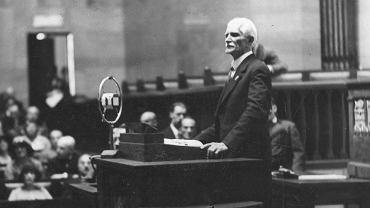 Obrady Sejmu pod przewodnictwem marszałka Sejmu Ignacego Daszyńskiego, 1928 rok.