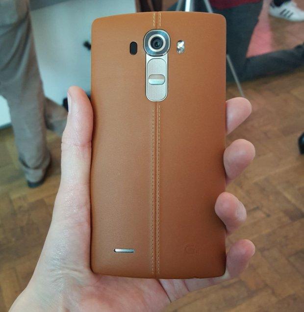 Skórzana obudowa LG G4