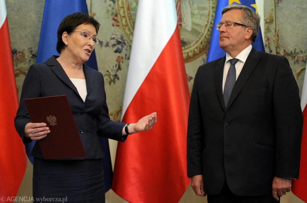 Ewa Kopacz i Bronisław Komorowski tuż po desygnacji