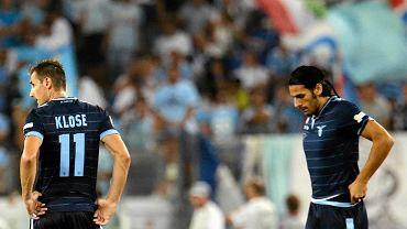 Miroslav Klose (z lewej) i Sergio Floccari z Lazio Rzym