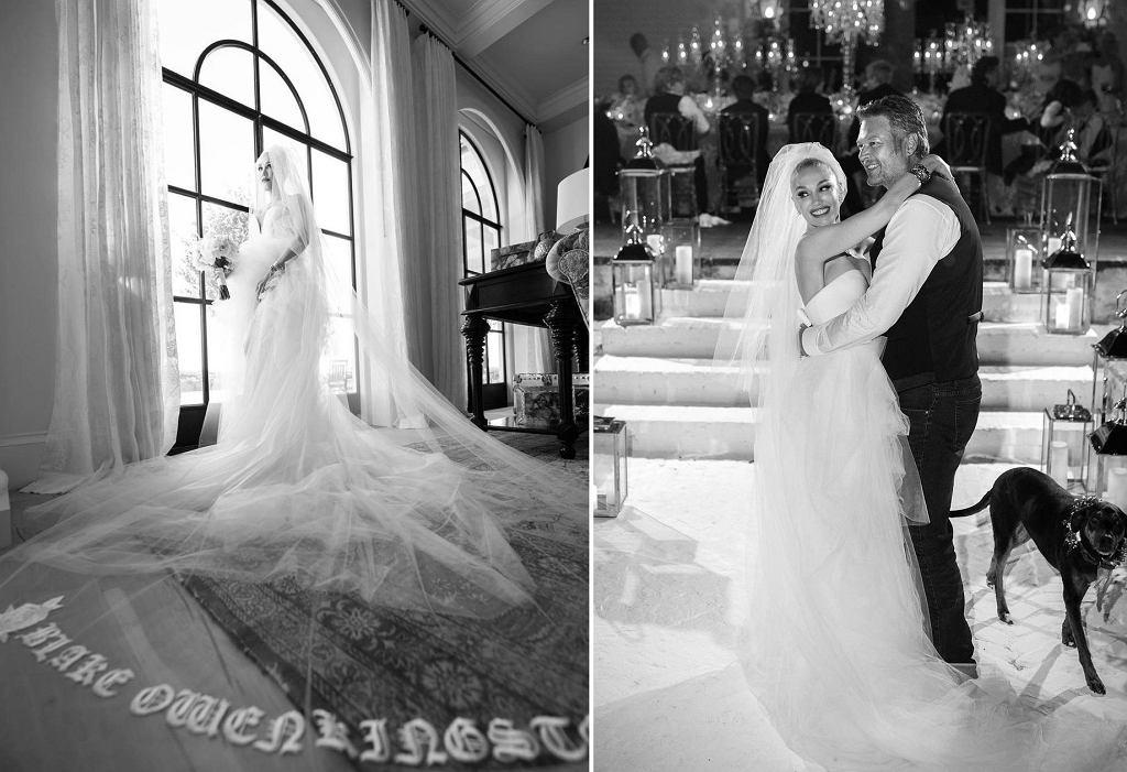 Suknia ślubna Gwen Stefani / Gwen Stefani i Blake Shelton