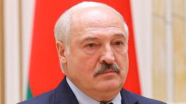 Alaksandr Łukaszenka podczas oficjalnego wystąpienia w Mińsku, 2 lipca 2021 r.
