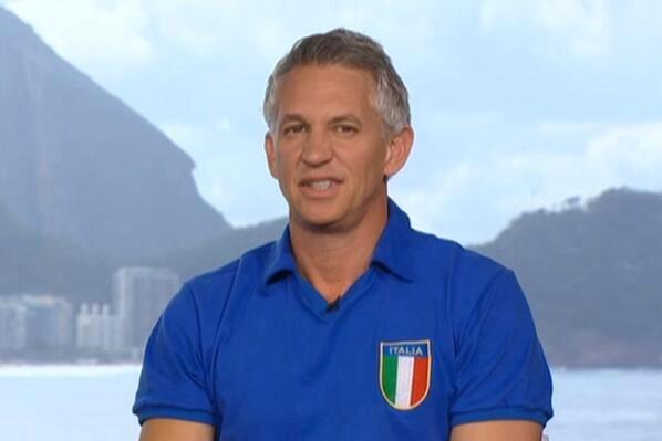 Gary Lineker w koszulce reprezentacji Włoch
