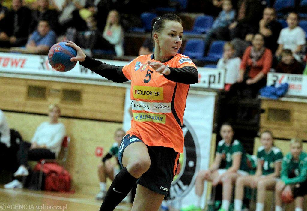 Izabela Kaźmiruk podczas meczu Korona Handball - MTS Żory