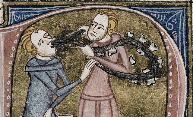 Średniowieczny dentysta. XIV-wieczny manuskrypt