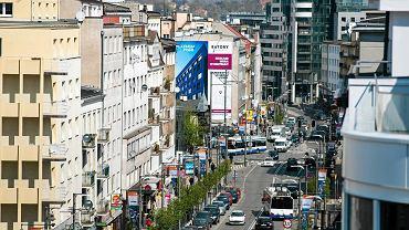 Widok z Baltiq Plaza w Gdyni.