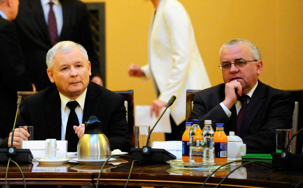 Jarosław Kaczyński i Adam Lipiński