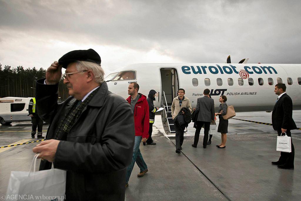 Połączenie Bydgoszcz - Warszawa obsługiwane jest samolotem Bombardier Dash Q400 NG