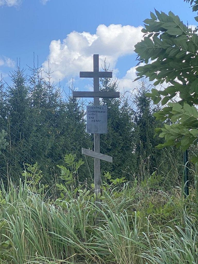 Cmentarz staroobrzędowców. Postawiono krzyż