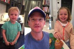 Neil Patrick Harris z dziećmi