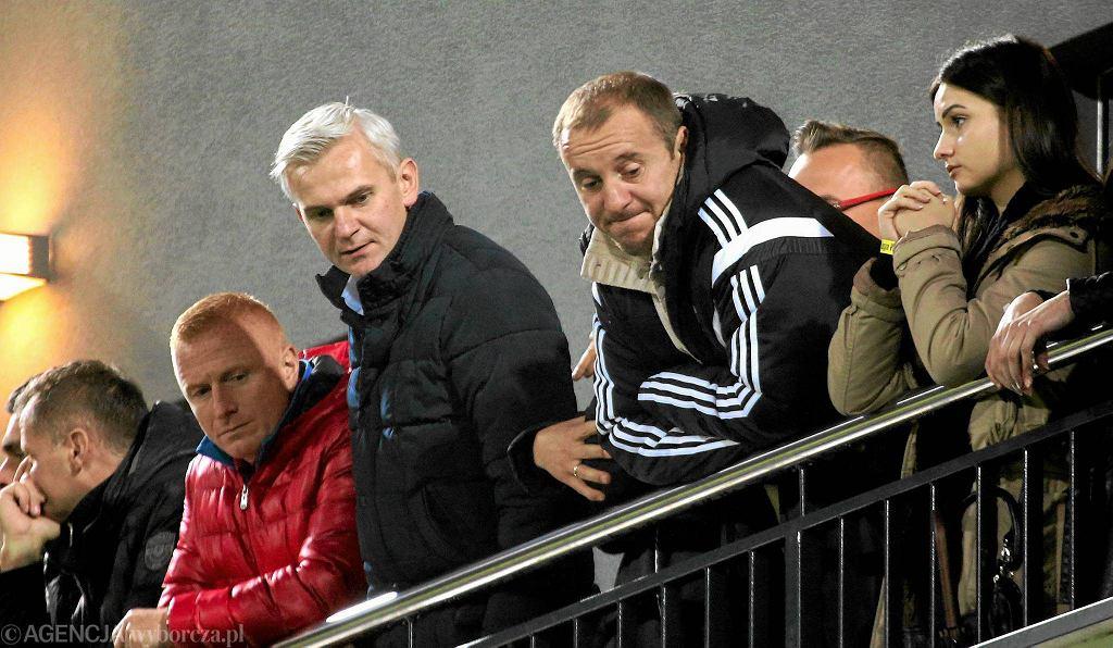 Jacek Magiera i Aleksandar Vuković na meczu Legia - Liteks Łowecz (3:1)