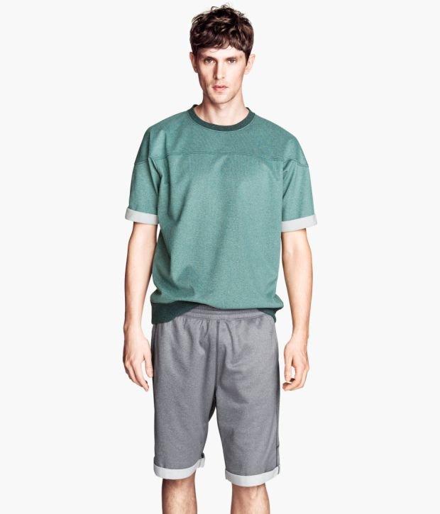 Szorty z kolekcji H&M. Cena: 79,90 zł, moda męska, h&m, spodnie