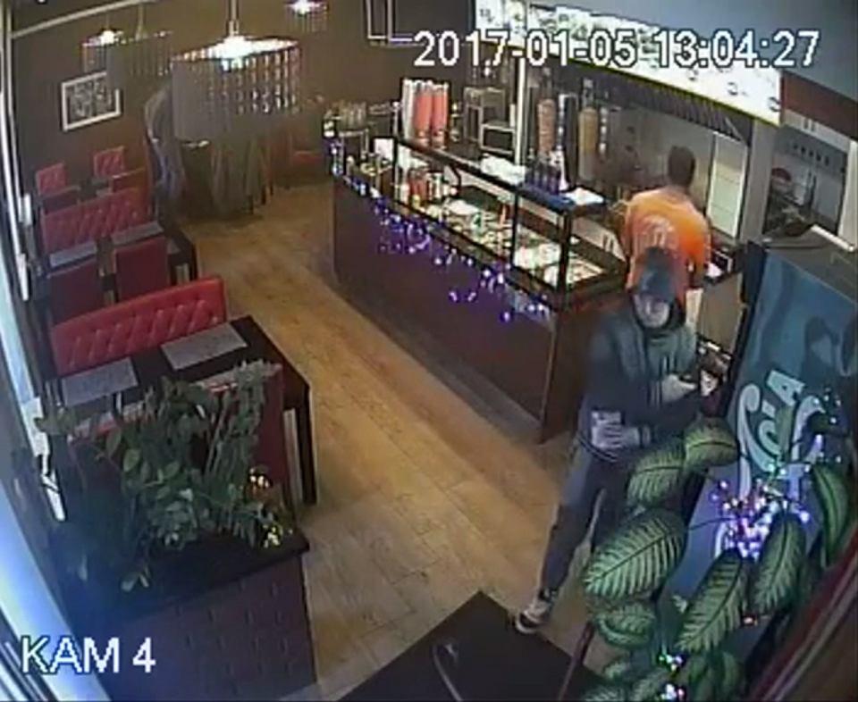 Ukradł puszkę w barze z kebabem