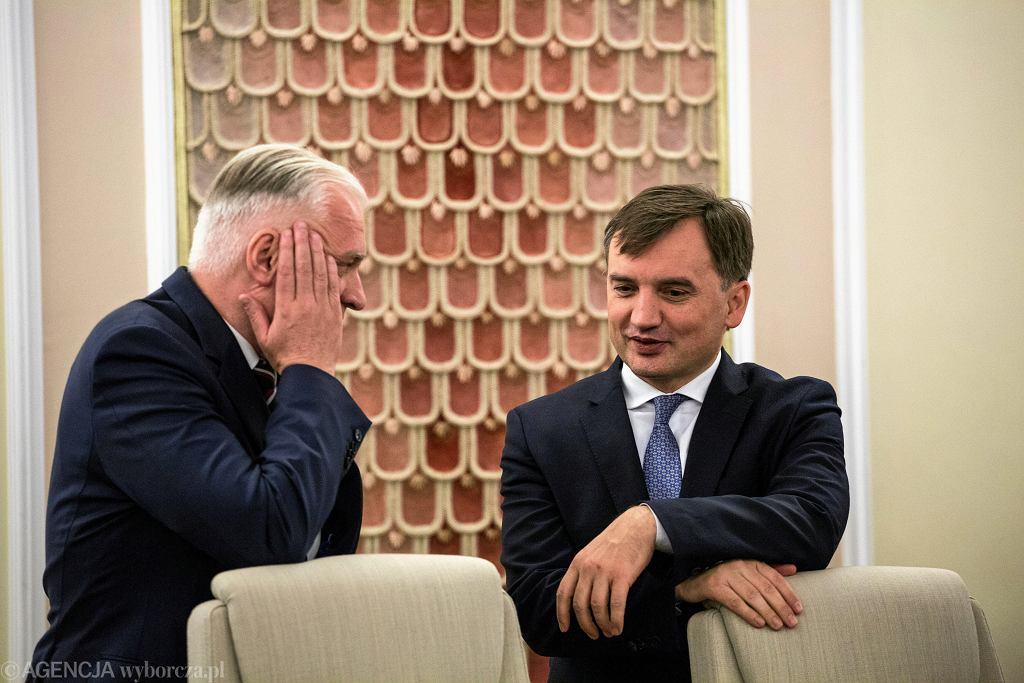 Jarosław Gowin i Zbigniew Ziobro