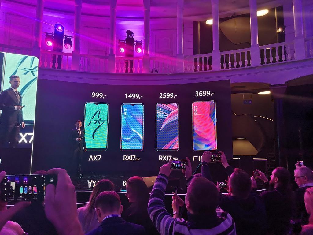 Ceny smartfonów Oppo