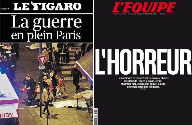 Okładki francuskich gazet