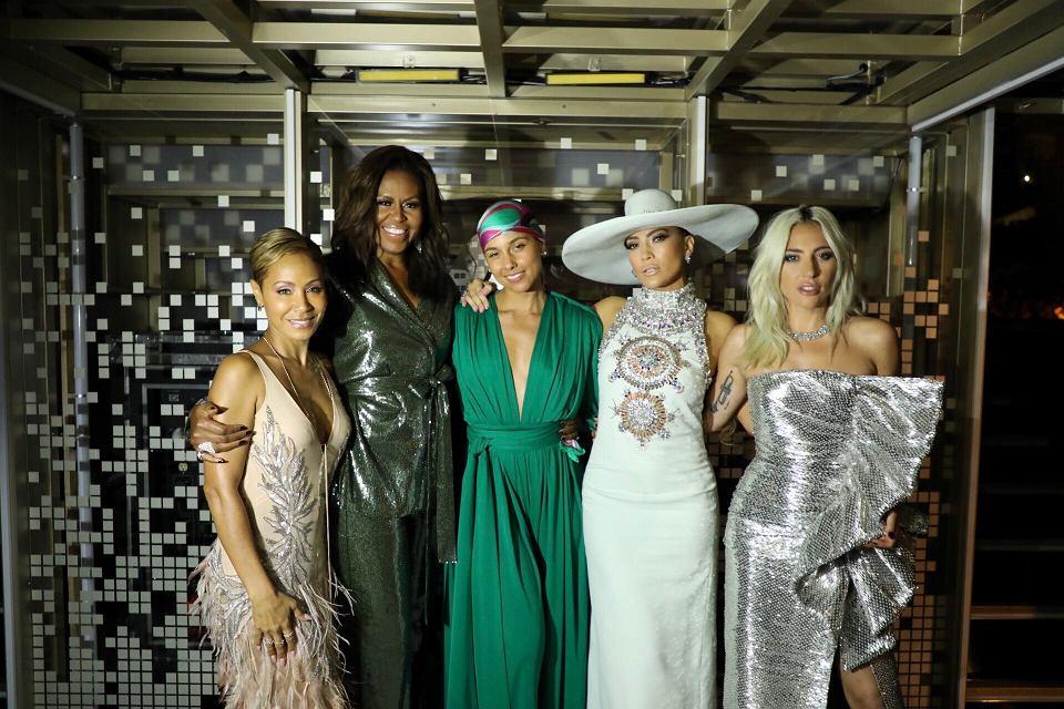 Jada Pinkett Smith, Michelle Obama, Alicia Keys, Jennifer Lopez i Lady Gaga na Grammy 2019