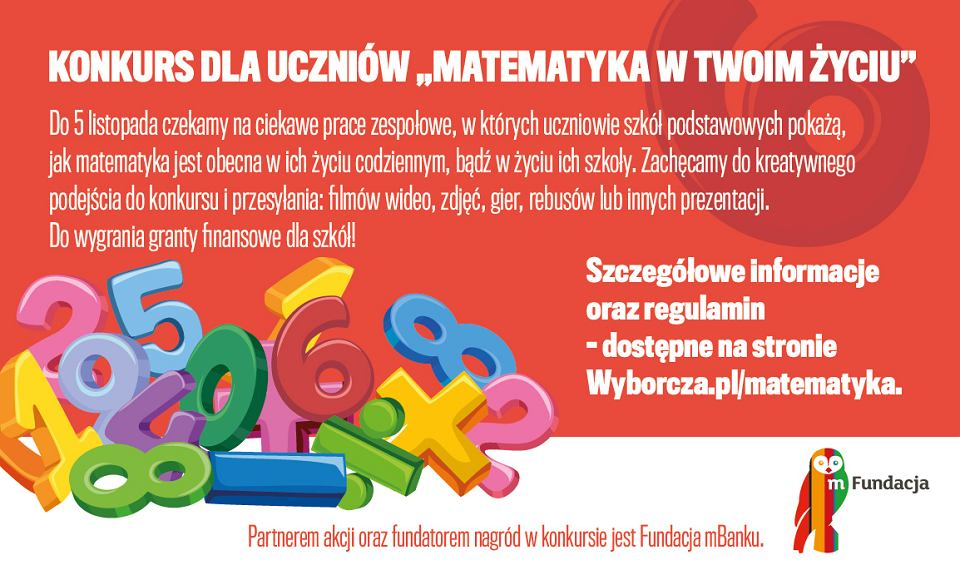 Konkurs 'Matematyka w Twoim życiu'
