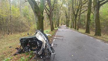 Wypadek na drodze nr 593