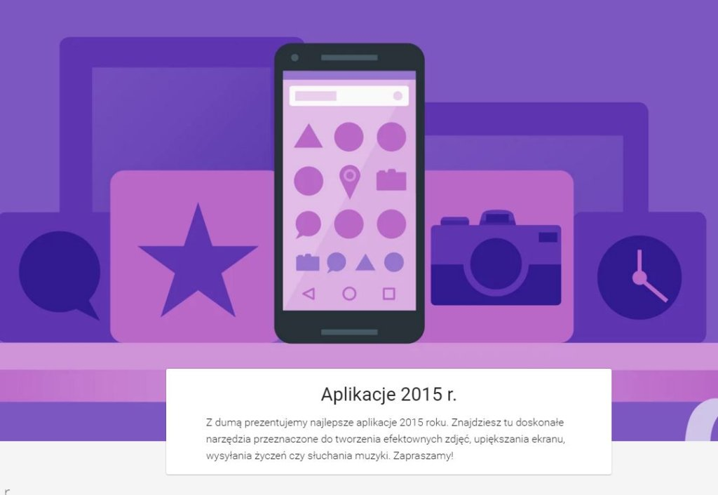 Google wyróżnił 20 aplikacji roku 2015